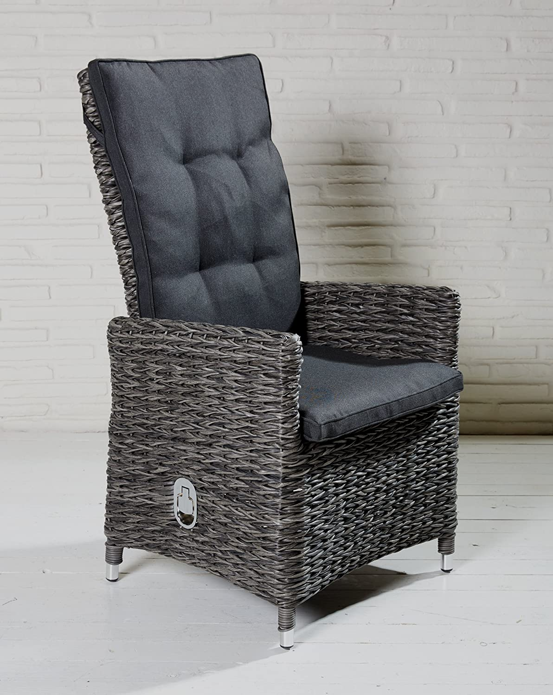 gartensessel polyrattan grau. Black Bedroom Furniture Sets. Home Design Ideas
