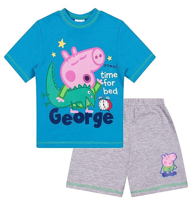 461755ea7 Boys George Pig Time for Bed Short Pyjamas: Amazon.co.uk: Clothing