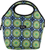 Nicole Miller of New York 13 Insulated Lunch Tote (Light Blue Kaleidoscope)