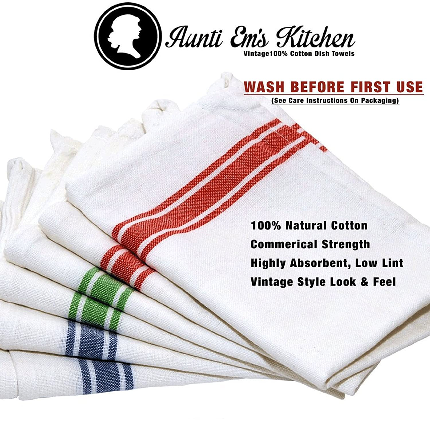 amazoncom kitchen dish towels with vintage design for kitchen decor super absorbent 100 natural cotton kitchen towels size 255 x 155 inches white - Kitchen Towels New Design