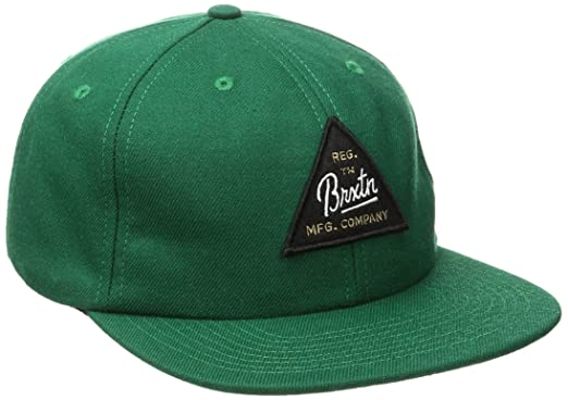 hot sale online 784a6 ab250 Brixton Men s Cue Snapback, Chive, One Size