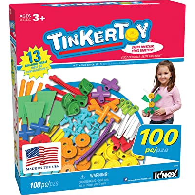 TINKERTOY ‒ 100 Piece Essentials Value Set ‒ Ages 3+ Preschool Education Toy: Toys & Games