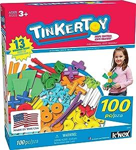 TINKERTOY ‒ 100 Piece Essentials Value Set ‒Ages 3+ Preschool Education Toy