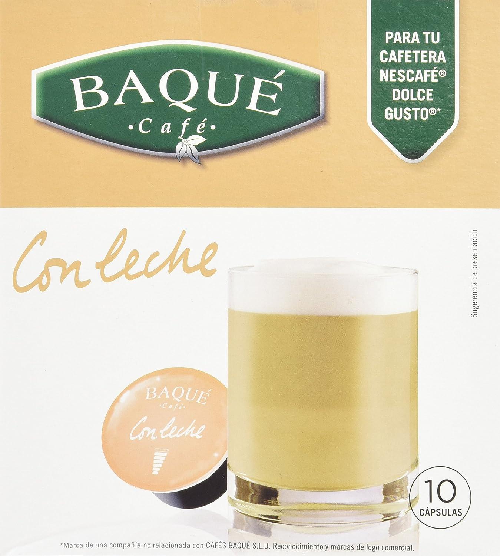 Cafés Baqué - 10 Capsulas Compatibles Dolce Gusto. Con Leche ...