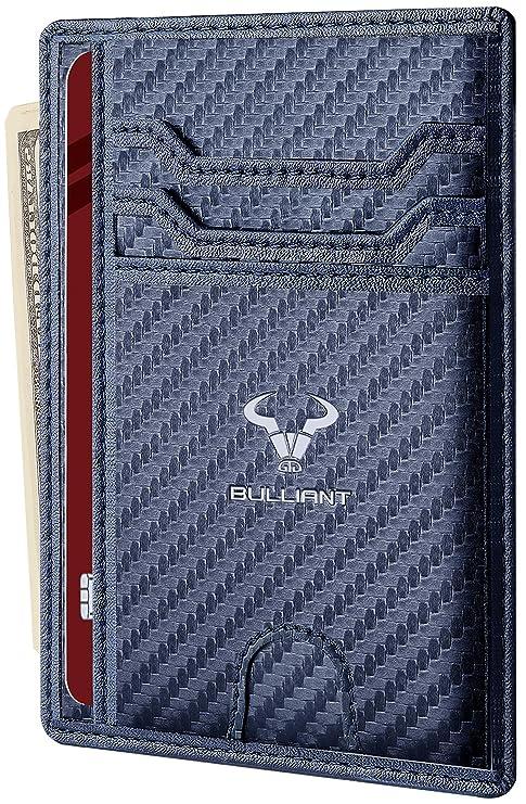 eda41d67e5 Mini Portafoglio,Bulliant Slim Portafoglio Uommo/Donna, RFID  Protezione,Credito&Cash