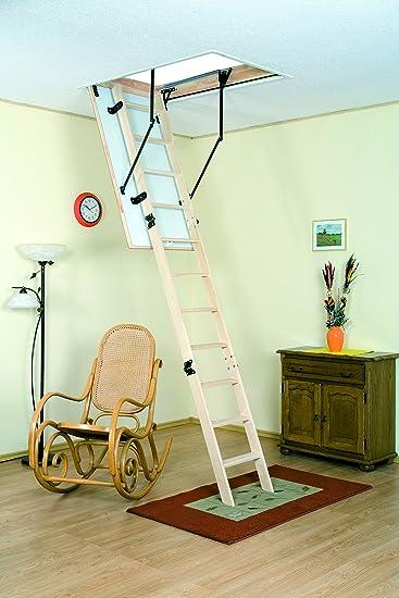 Omán 3 sección madera escalera para desván Kit atll02: Amazon.es: Bricolaje y herramientas