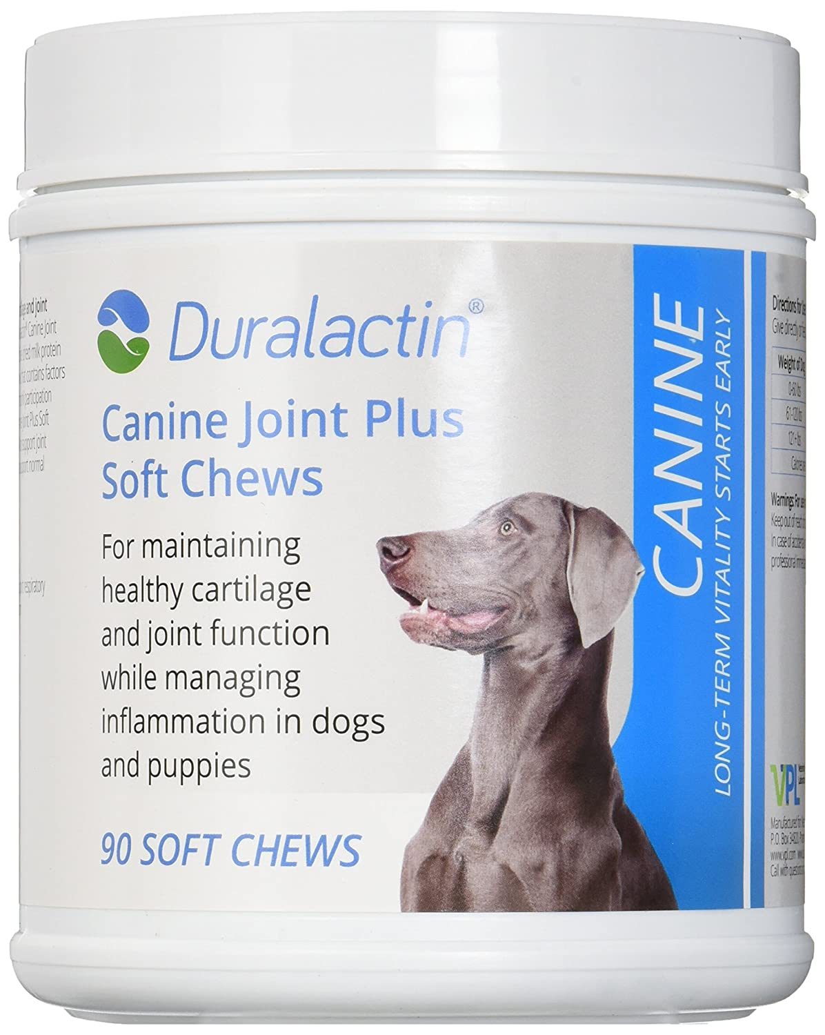 Duralactin Canine Joint Plus Soft Chews Triple Strength 90 Soft Chews
