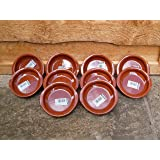 Set of 10 10cm Terracotta Tapas Dishes