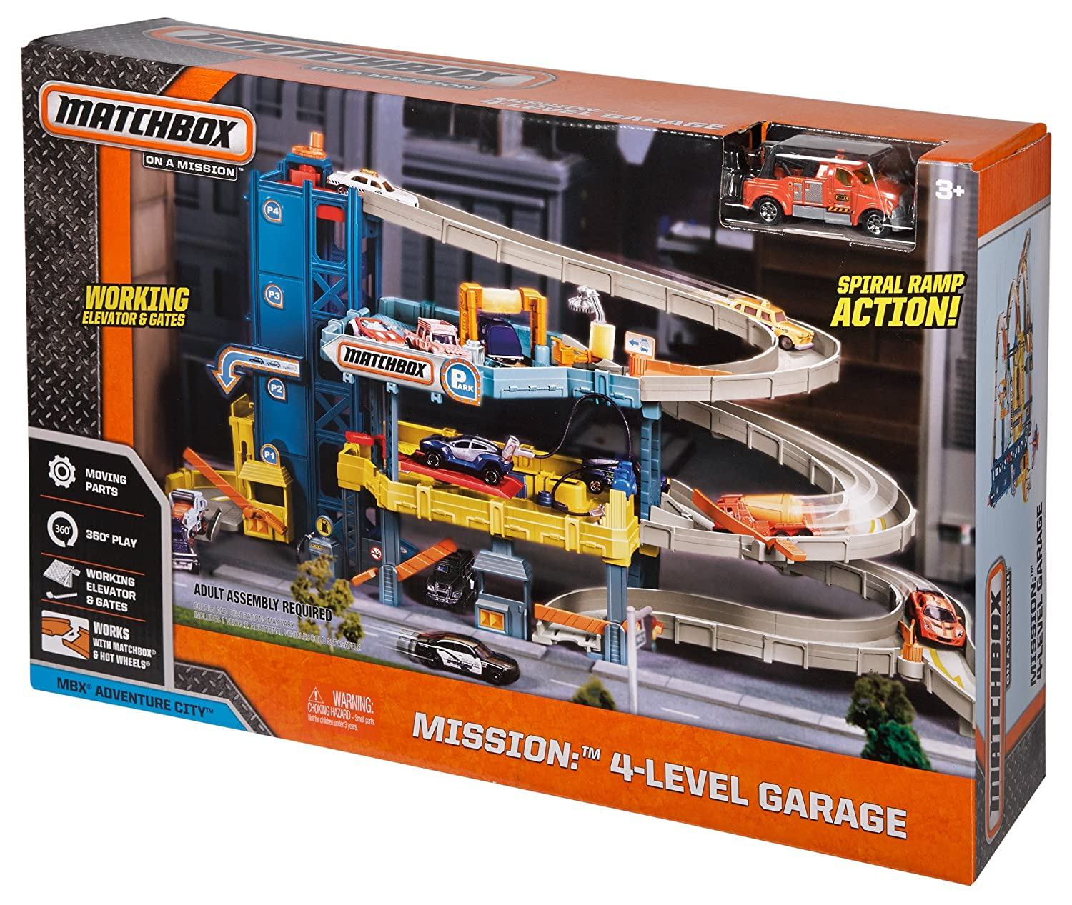 Best Matchbox Cars And Toys For Kids : Car garage play set level kids toy matchbox service