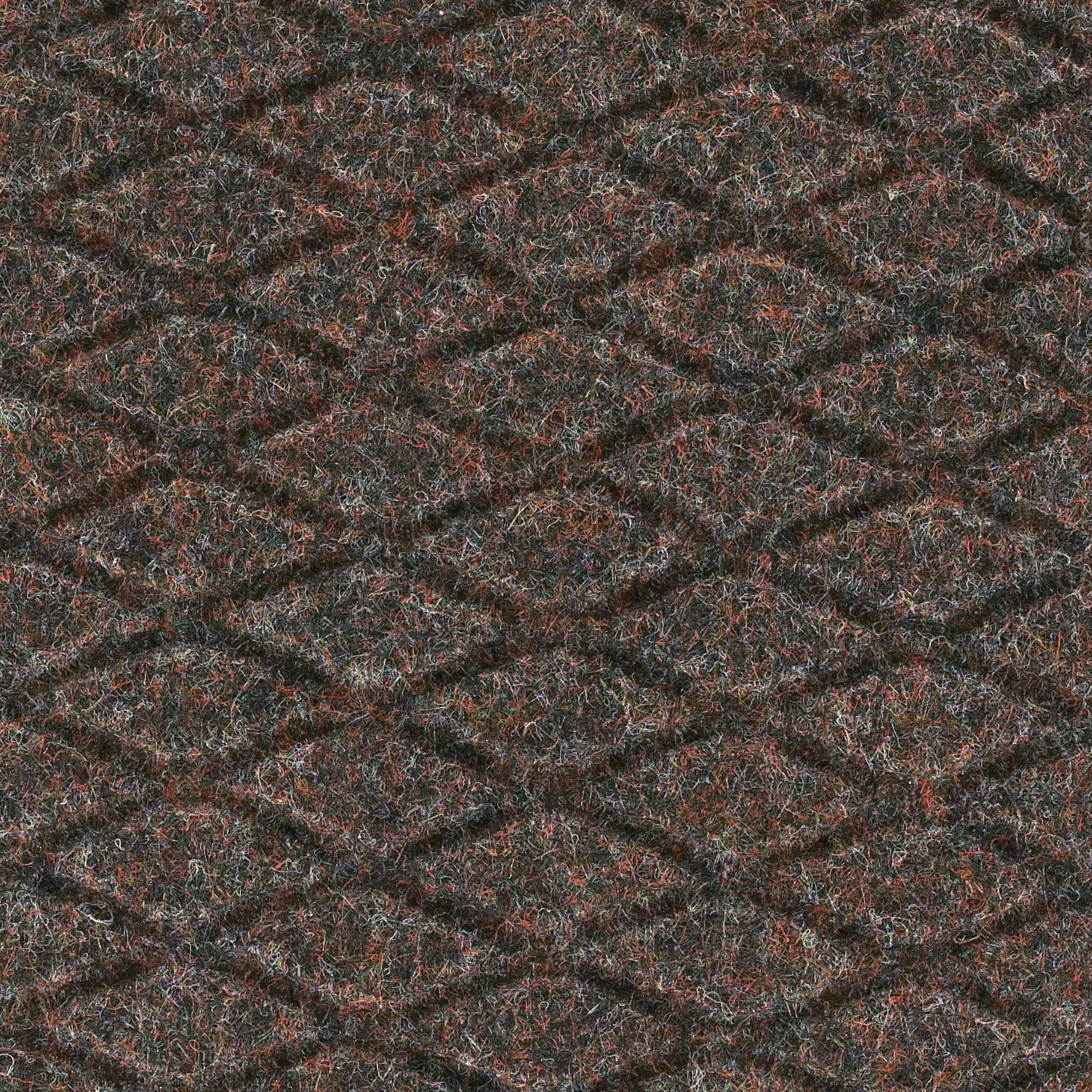 Andersen 442 Hog Heaven Fashion Nitrile rubber Anti-Fatigue Floor Mat, Nitrile/PVC Rubber Cushion Backing, 12' Length x 3' Width, 7/8'' Thick, Cocoa Brown
