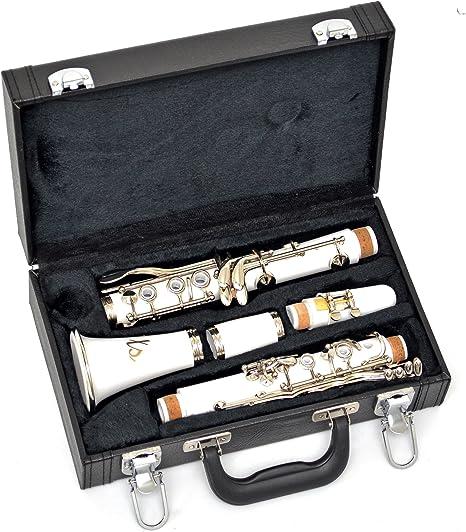 ts-ideen 6117 - Clarinete en si bemol, color blanco: Amazon.es ...