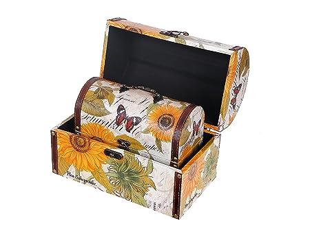 Indian Handicrafts Sunflower Chest Fabric, Set of 2: Amazon