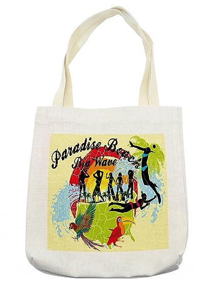 Amazon.com - Lunarable Tropical Tote Bag, Abstract Art ...
