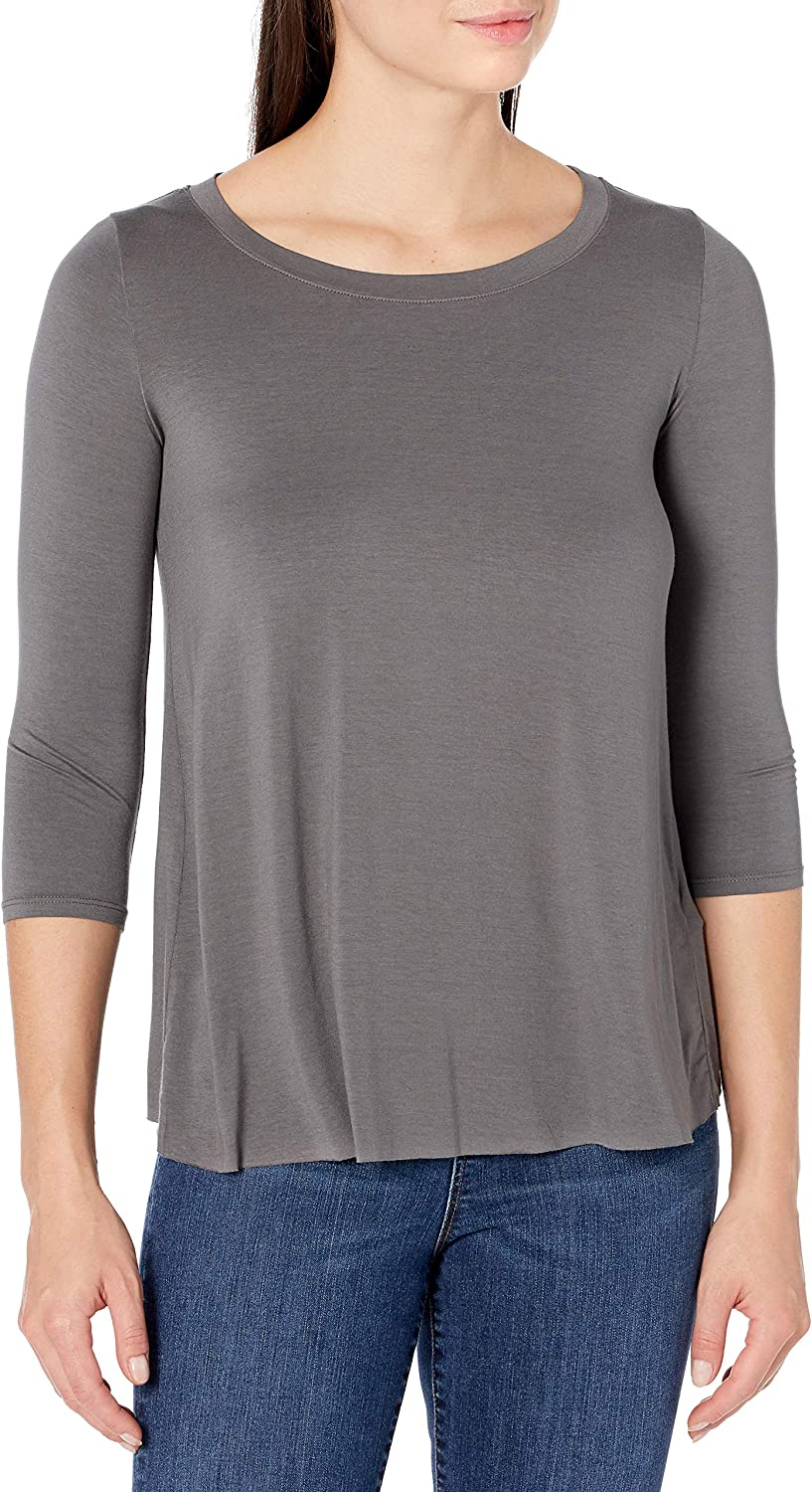 Details about  /Three Dots Women/'s Deep V Neck 3//4 Sleeve Tee Choose SZ//color