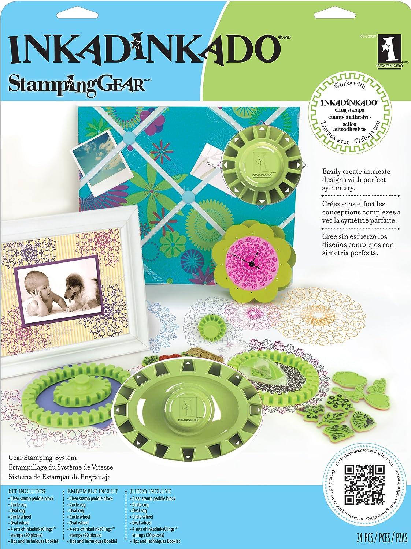 Inkadinkado Gear Kit Cling Stamp Set