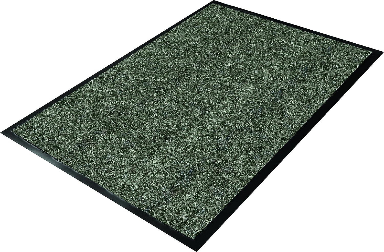 3x5 Vinyl//Polypropylene Guardian Golden Series Chevron Indoor Wiper Floor Mat Charcoal