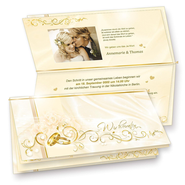 TATMOTIVE 20 wohlgestaltete Einladungskarten für die Hochzeit PERLMUTT, mit mit mit reizenden Umschlägen B00C2Y8W8E | München Online Shop  db84ca