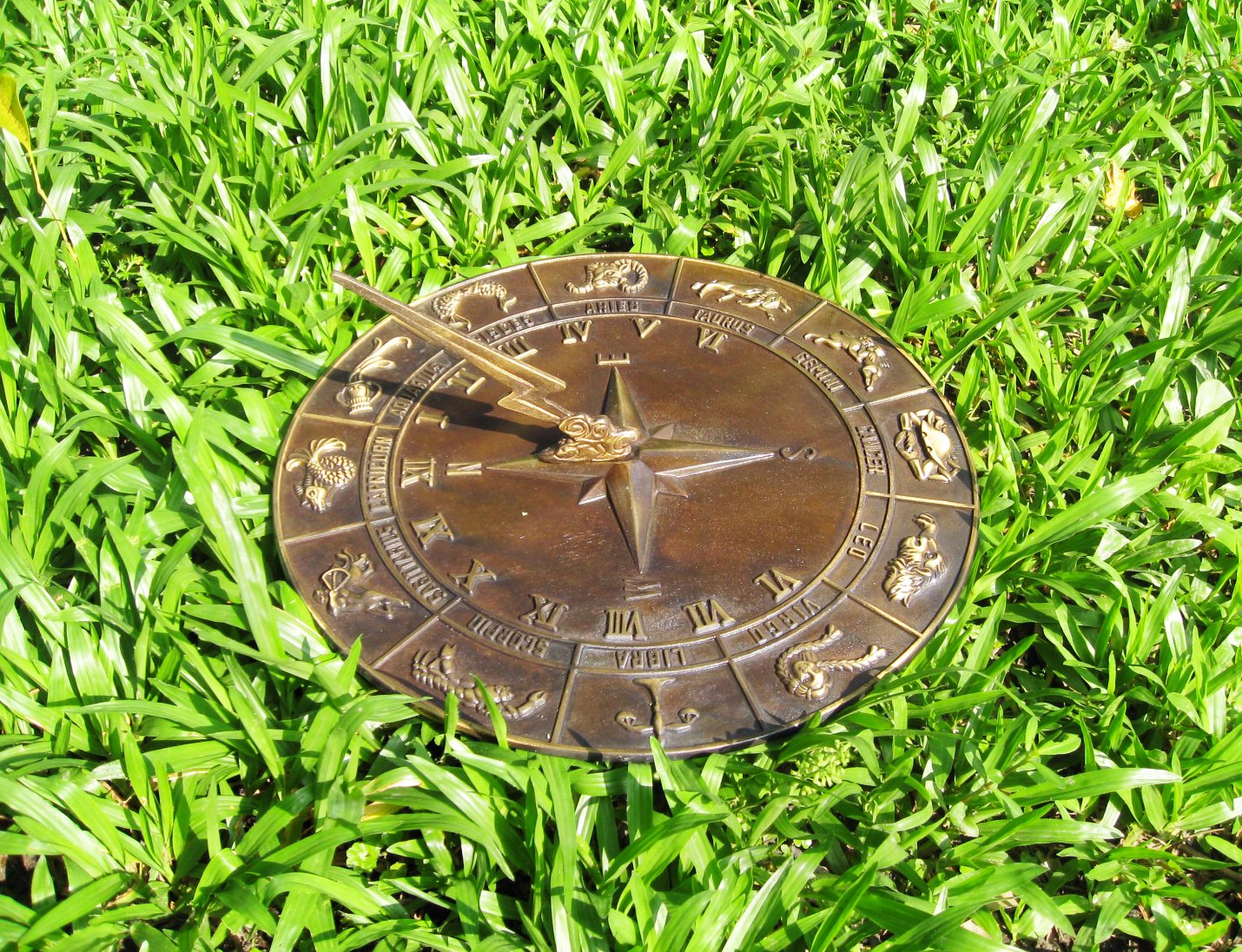 Brass Constellations Sundial - 12'' inches wide by Taiwan (Image #2)