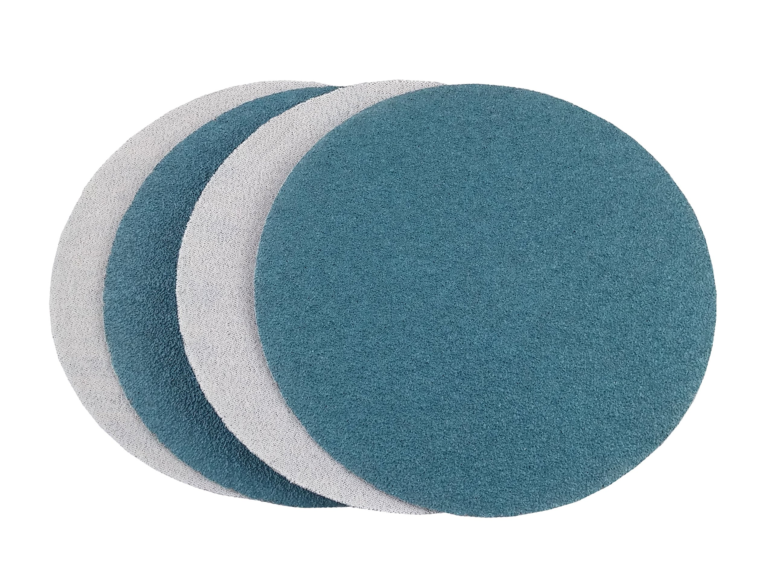 8'' Blue Zirconia Cloth Hook and Loop Sanding Discs (50 Pack, 80 Grit) by Perfect Sanding Supply by Abrasive Resource (Image #2)