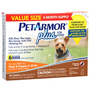 PetArmor Plus for Dogs Flea and Tick Prevention