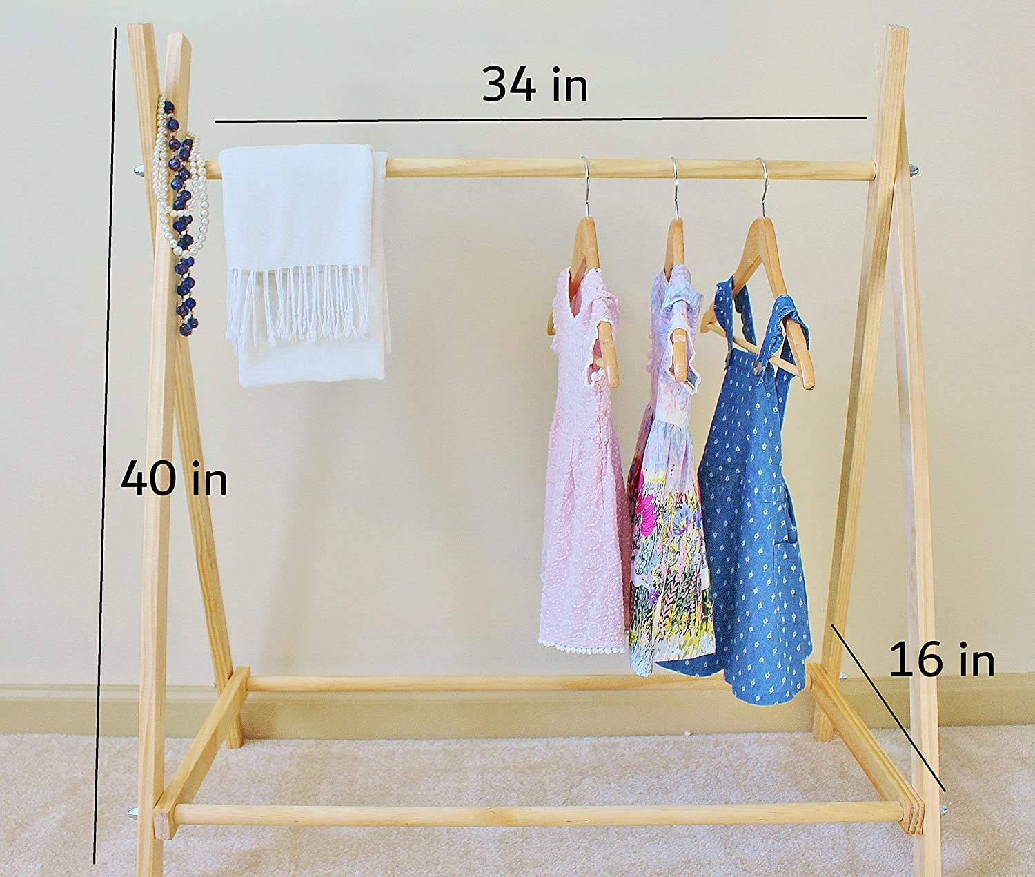 Amazoncom Clothing Rack Nursery Decor Dress Up Station Kids