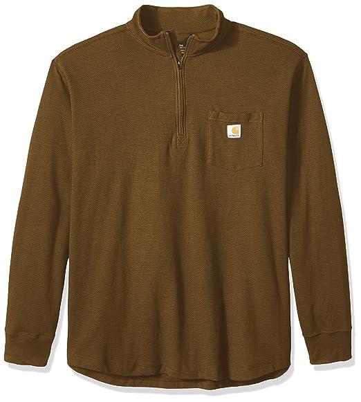 Carhartt Mens Tilden Long Sleeve Half Zip Cotton Sweater: Amazon ...