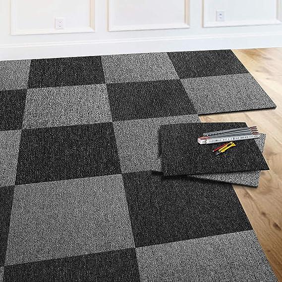 Bleu Moquette Int/érieur Boucl/ée Antistatique casa pura Dalle Moquette Acoustique Dalle 50x50 cm 24 Pi/èces - 6m/² Design Moderne 01