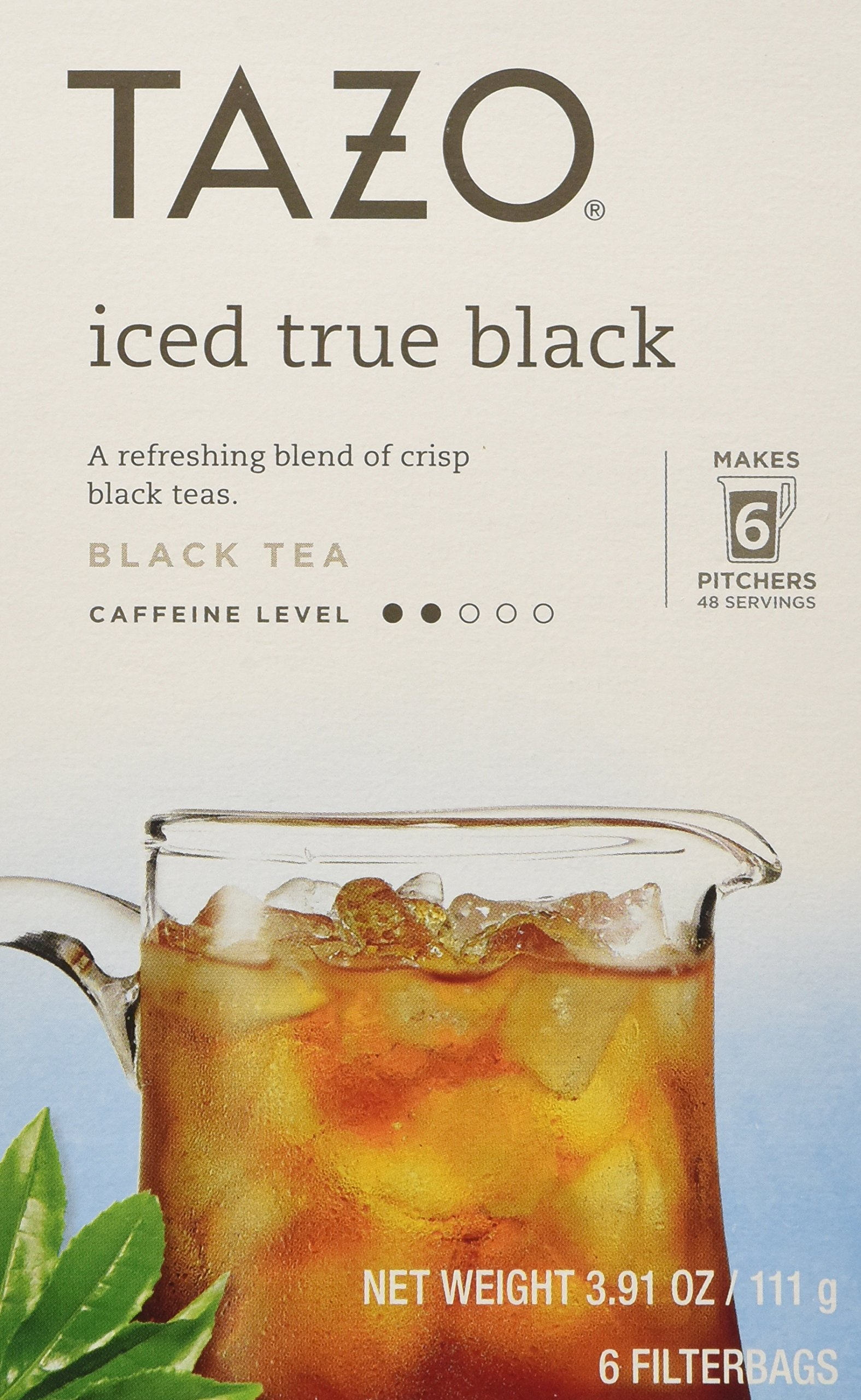 Tazo Iced True Black Filtered Tea - 6 Bags Per Box (Pack of 4) 3.91 oz