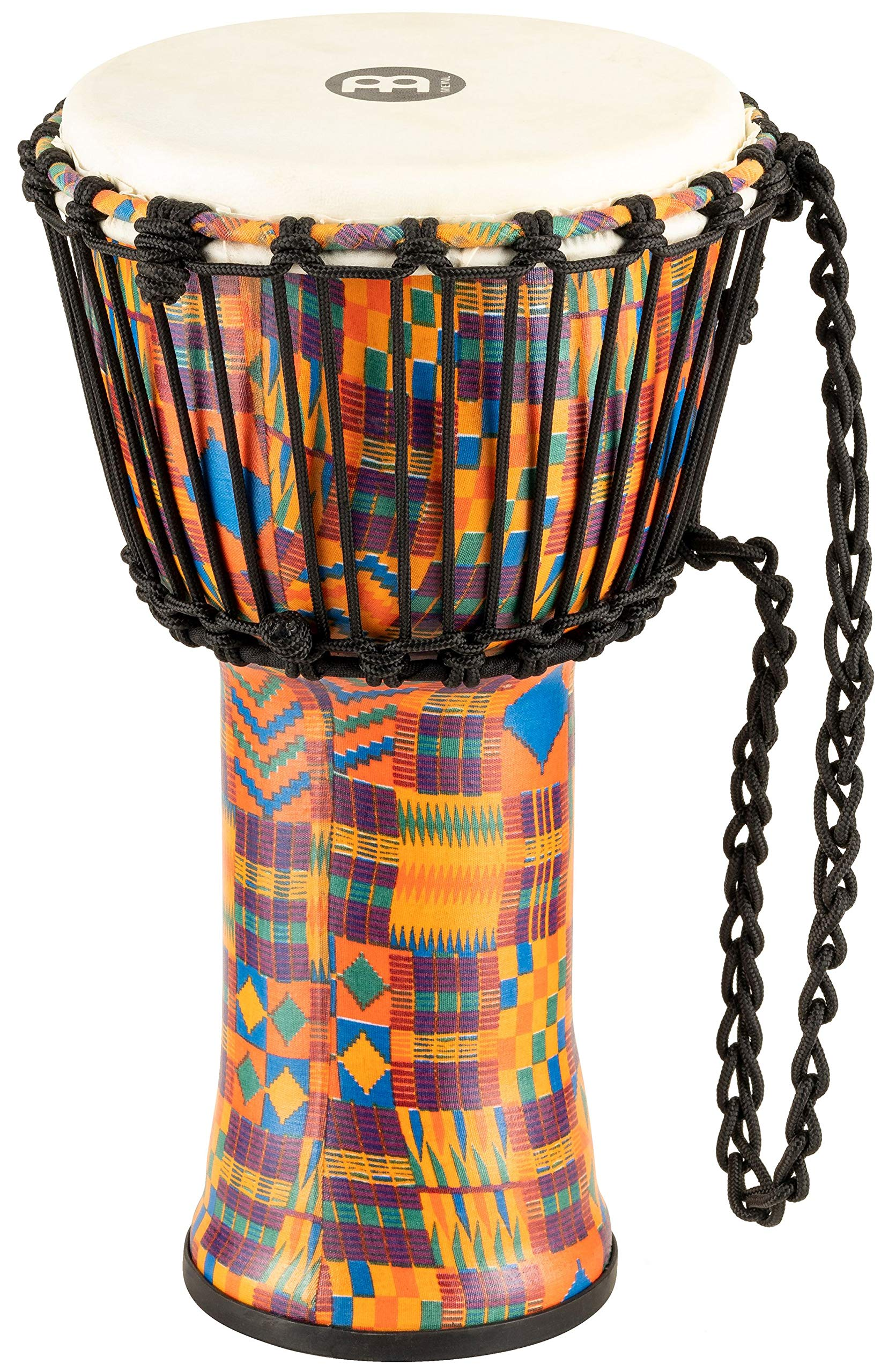 Meinl Percussion Travel Djembe with Synthetic Shell - NOT MADE IN CHINA - 8'' Small Size, Rope Tuned Goat Skin Head, Kenyan Quilt, 2-YEAR WARRANTY, 8'' (S) (PADJ2-S-G) by Meinl Percussion