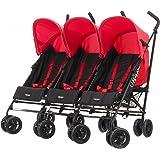 Obaby Mercury Triple Stroller (Black/Red)