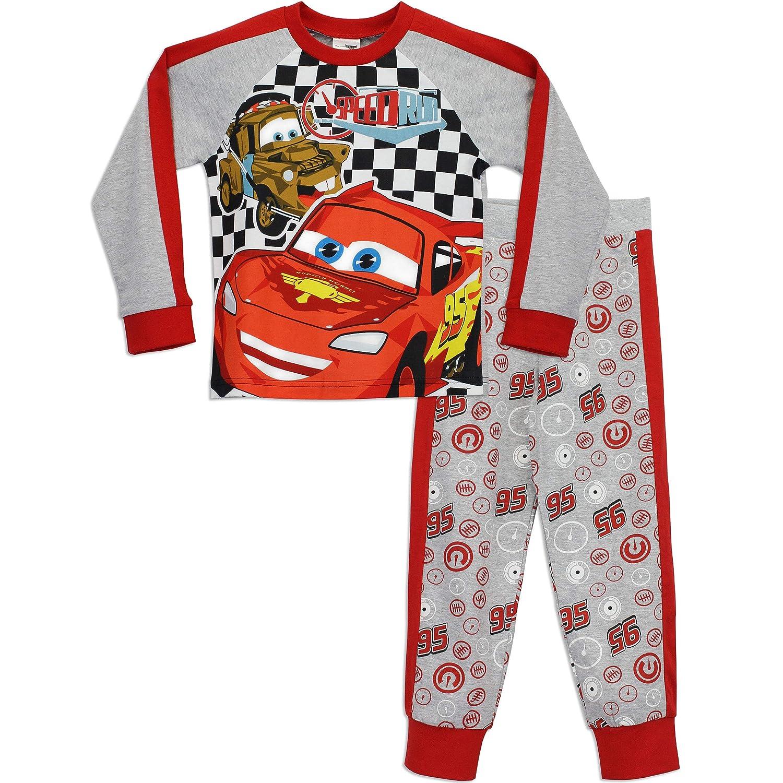 Disney Cars Boys Lightning McQueen Pyjamas Speed Run Ages 18 Months to 8 Years