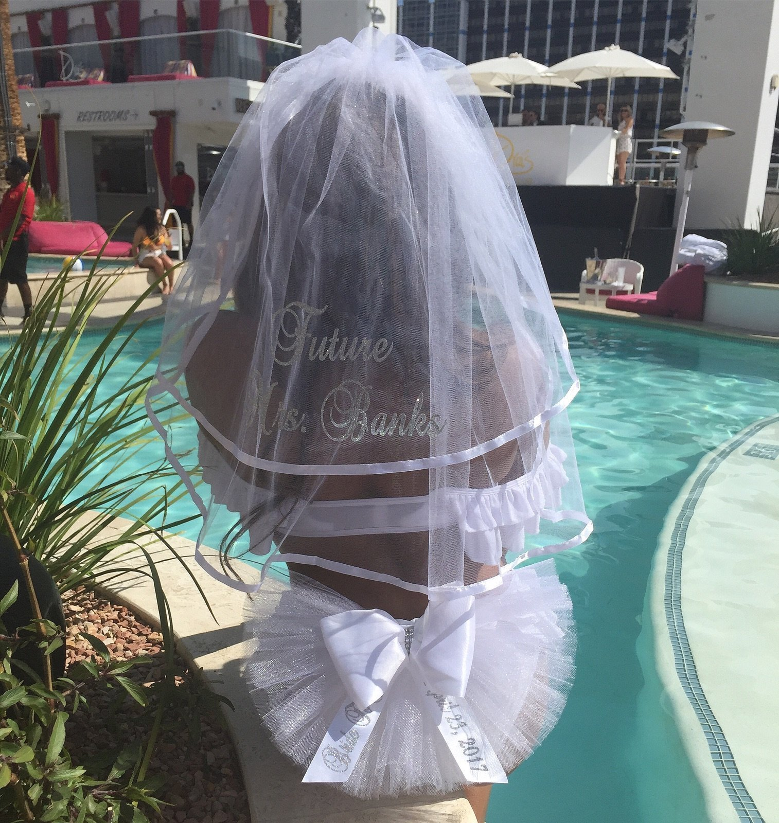 Booty Veil and Hair Veil (Booty Cover, Bikini Veil, Butt Veil) PERSONALIZED 2 piece set for only $55. this is an $60.00 VALUE (if purchased separately)