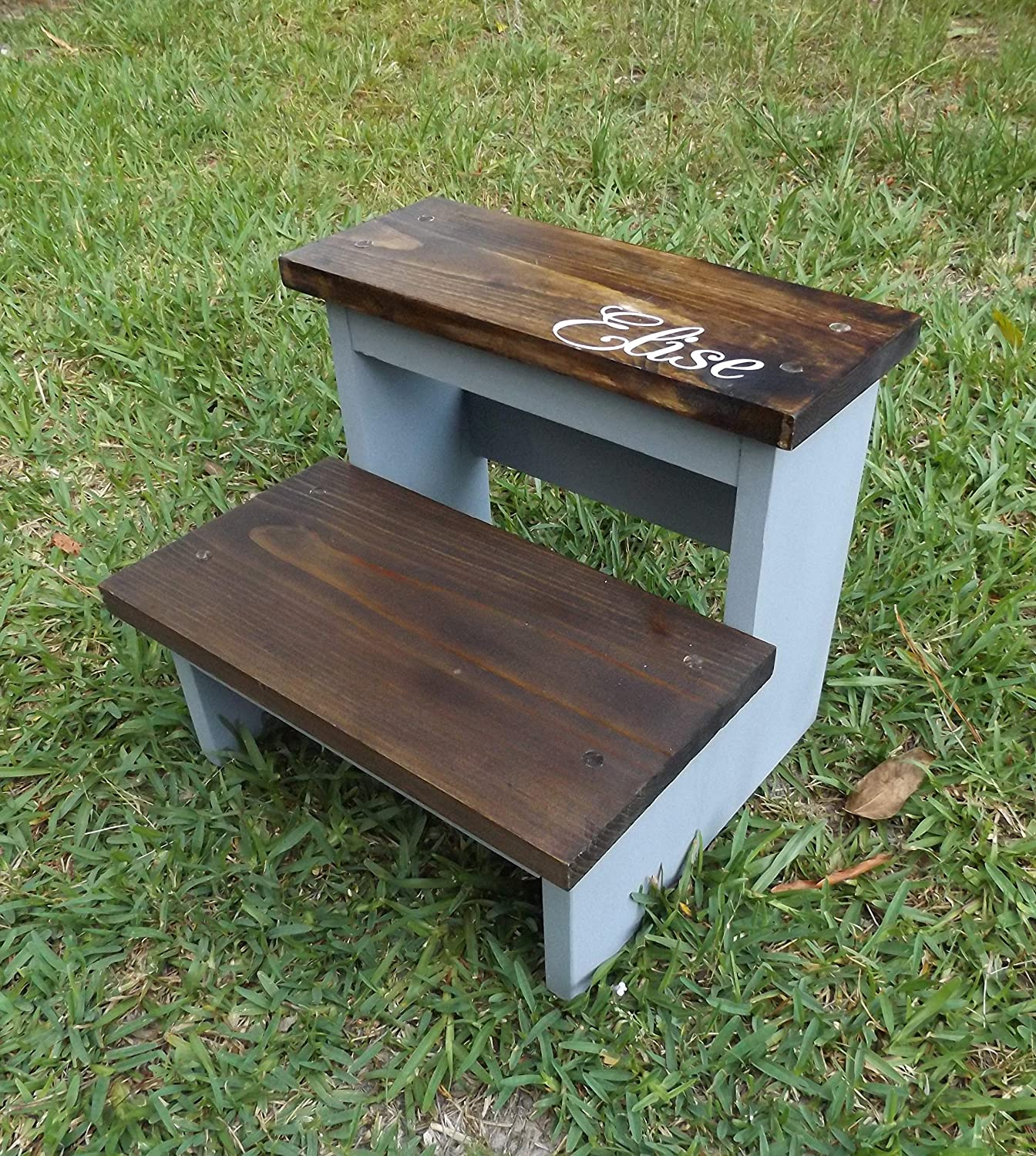 Prime Amazon Com Childs Step Stool Persoalized Handmade Wooden 2 Alphanode Cool Chair Designs And Ideas Alphanodeonline