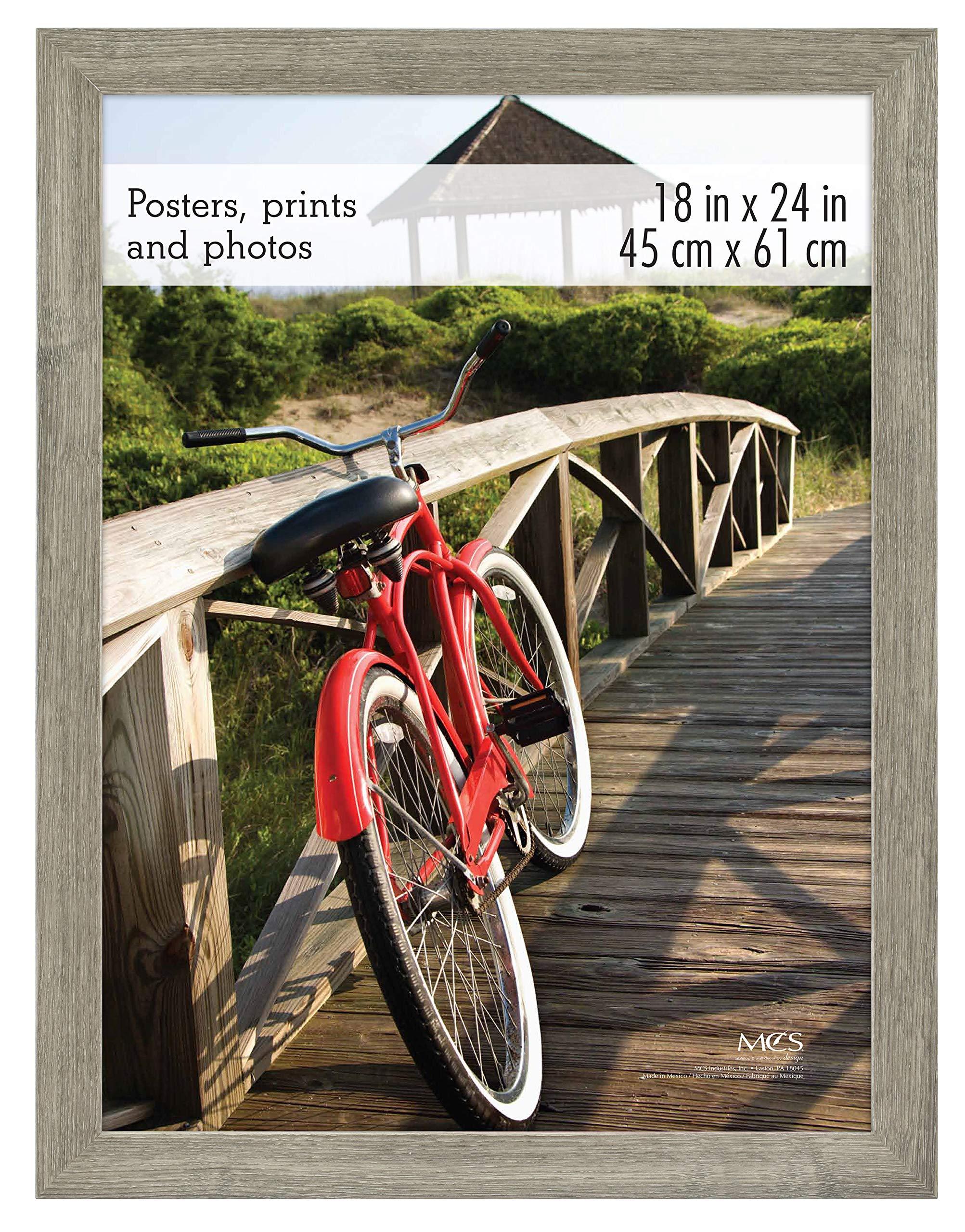 MCS 18x24 inch Museum Poster Frame, Barnwood (68865) by MCS Frames