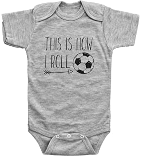 f91aa10a0 Baffle Funny Soccer Onesies for Babies This is How I Roll Futbol Bodysuit