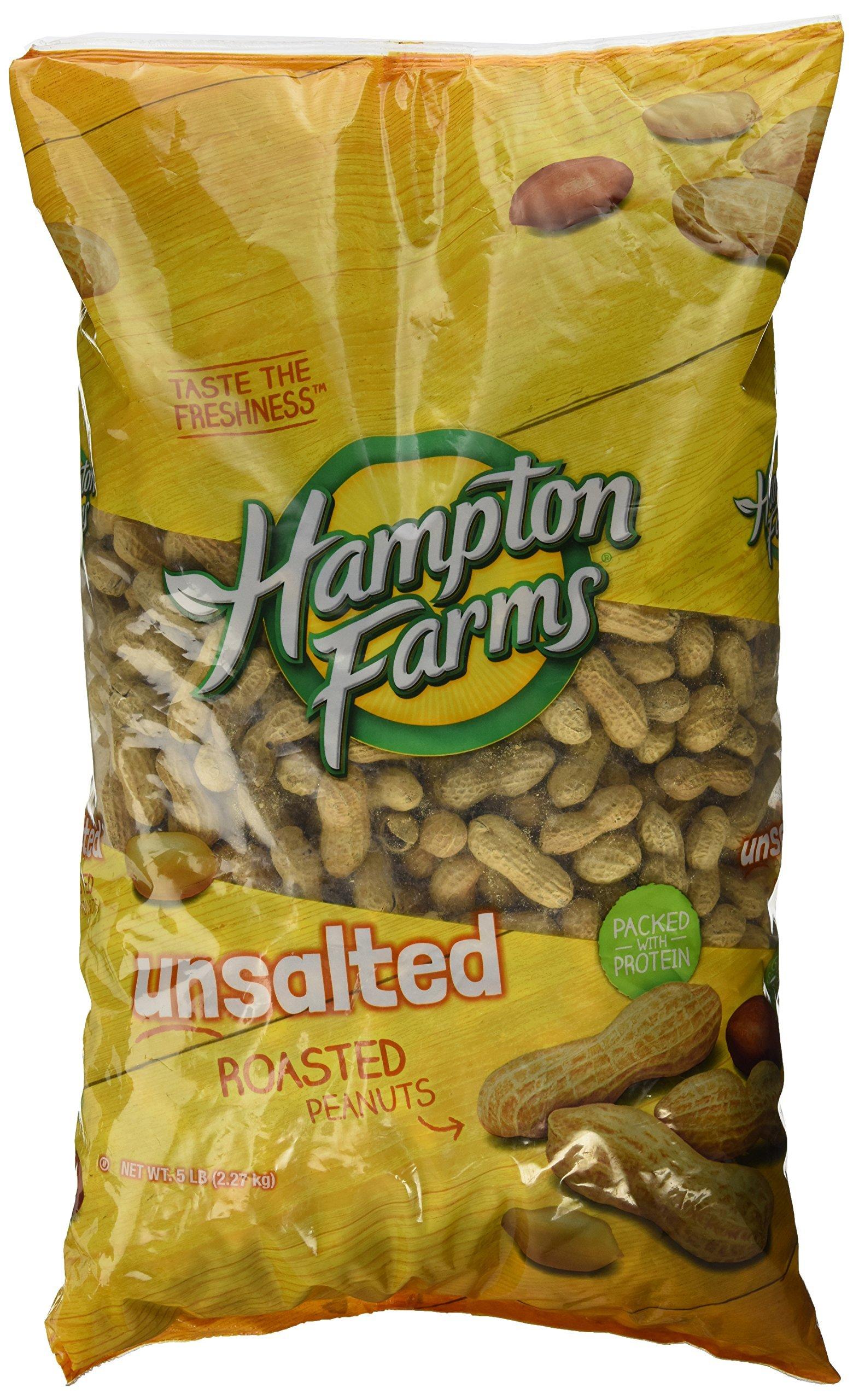 Hampton Farms No Salt Roasted In Shell Peanuts, 5 lb. Bag by Hampton Farms