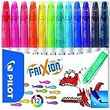Pilot - FriXion Colors - Feutre - Set de 12 - Couleurs assorties - Pointe Moyenne