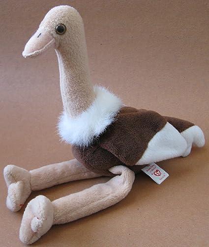 Amazon.com  TY Beanie Babies Stretch the Ostrich Plush Toy Stuffed Animal   Toys   Games f2e82432e479