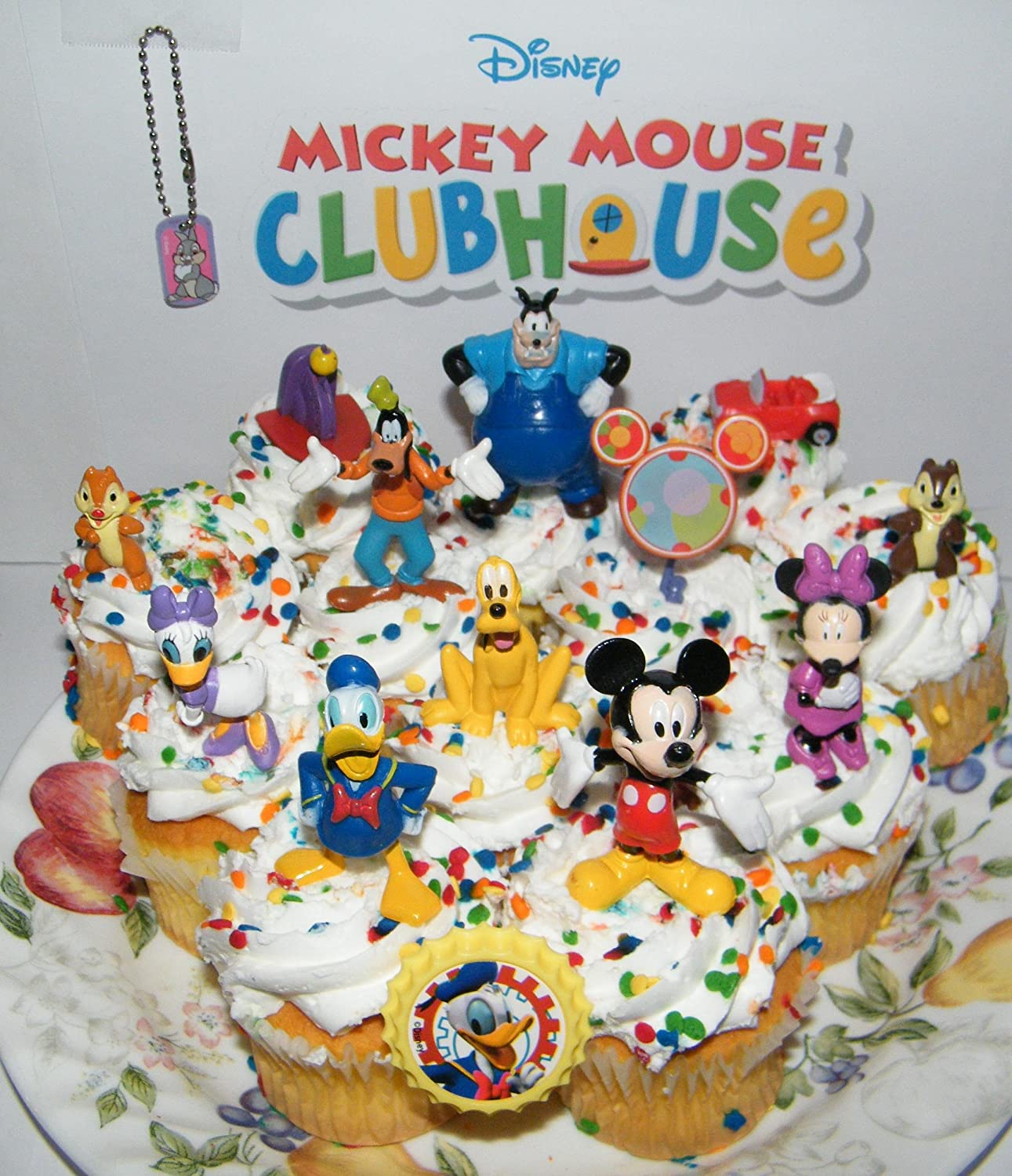 Disney Mickey Mouse Clubhouse Deluxe Mini Cake Toppers Cupcake Decorations Set Of 14 With Figures A Dog Tag And Toy Ring Daffy Minnie