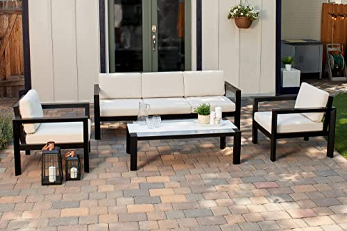 Quality Outdoor Living 65-YZ04MY Monterey 4-Piece Outdoor Deep Seating Conversation Set