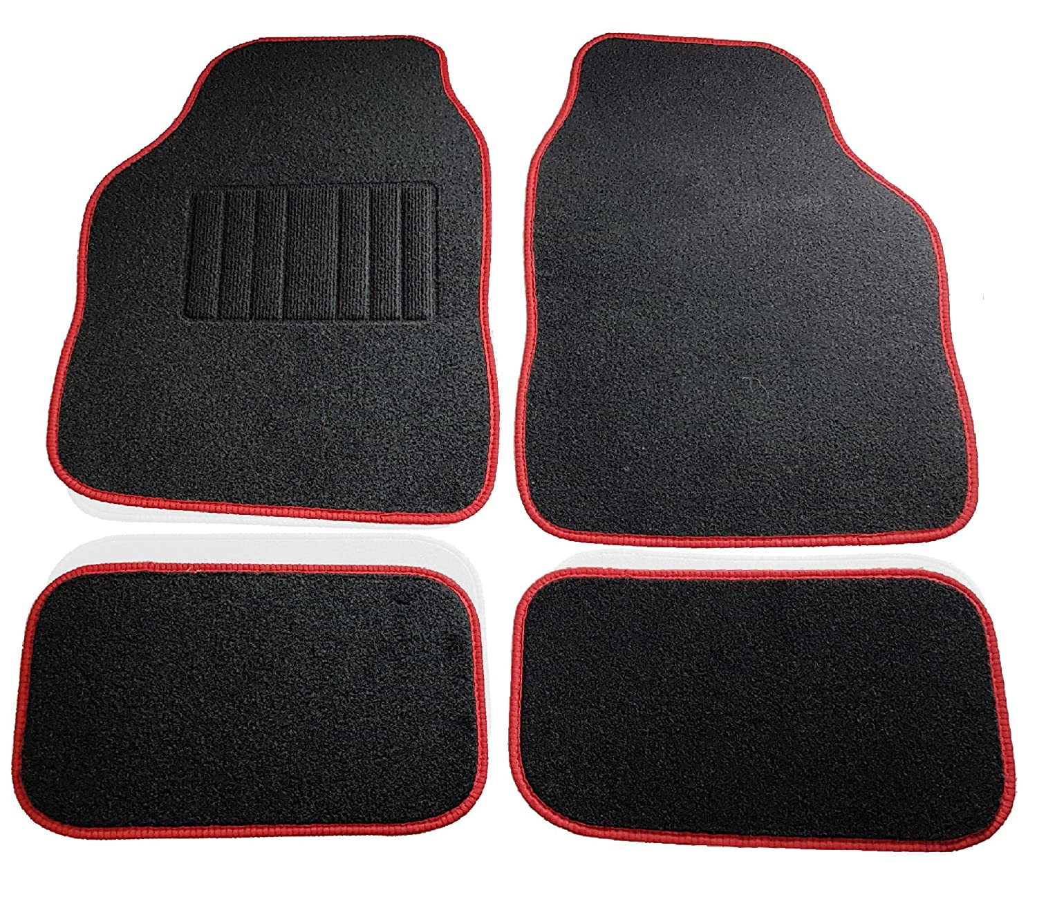 Safe Travel 27500 Universal Car Mats, Right Hand Drive (RHD), Carpet Heel, Black Binding SafeTravel