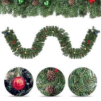 Tannengirlande außen Girlande weihnachten 2.7m Weihnachtsgirlande ...