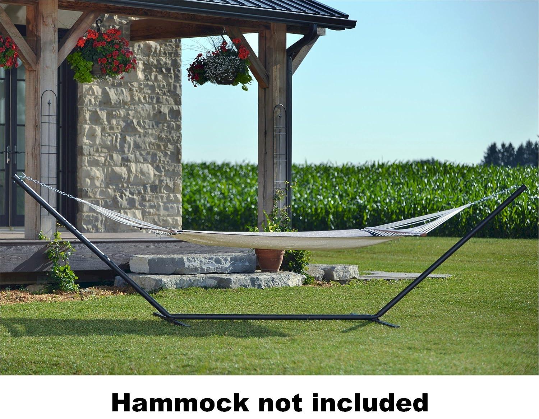 Vivere 15' Heavy Duty 3-Beam Hammock Stand, Black