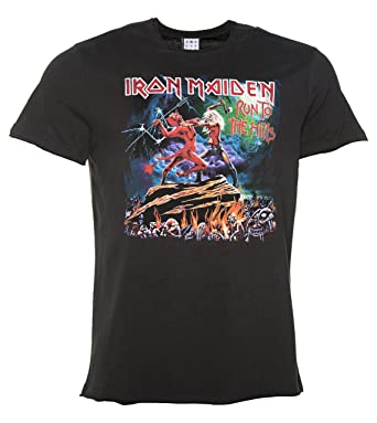 e819b9c9af9 Mens Charcoal Iron Maiden Run To The Hills T Shirt From Amplified ...
