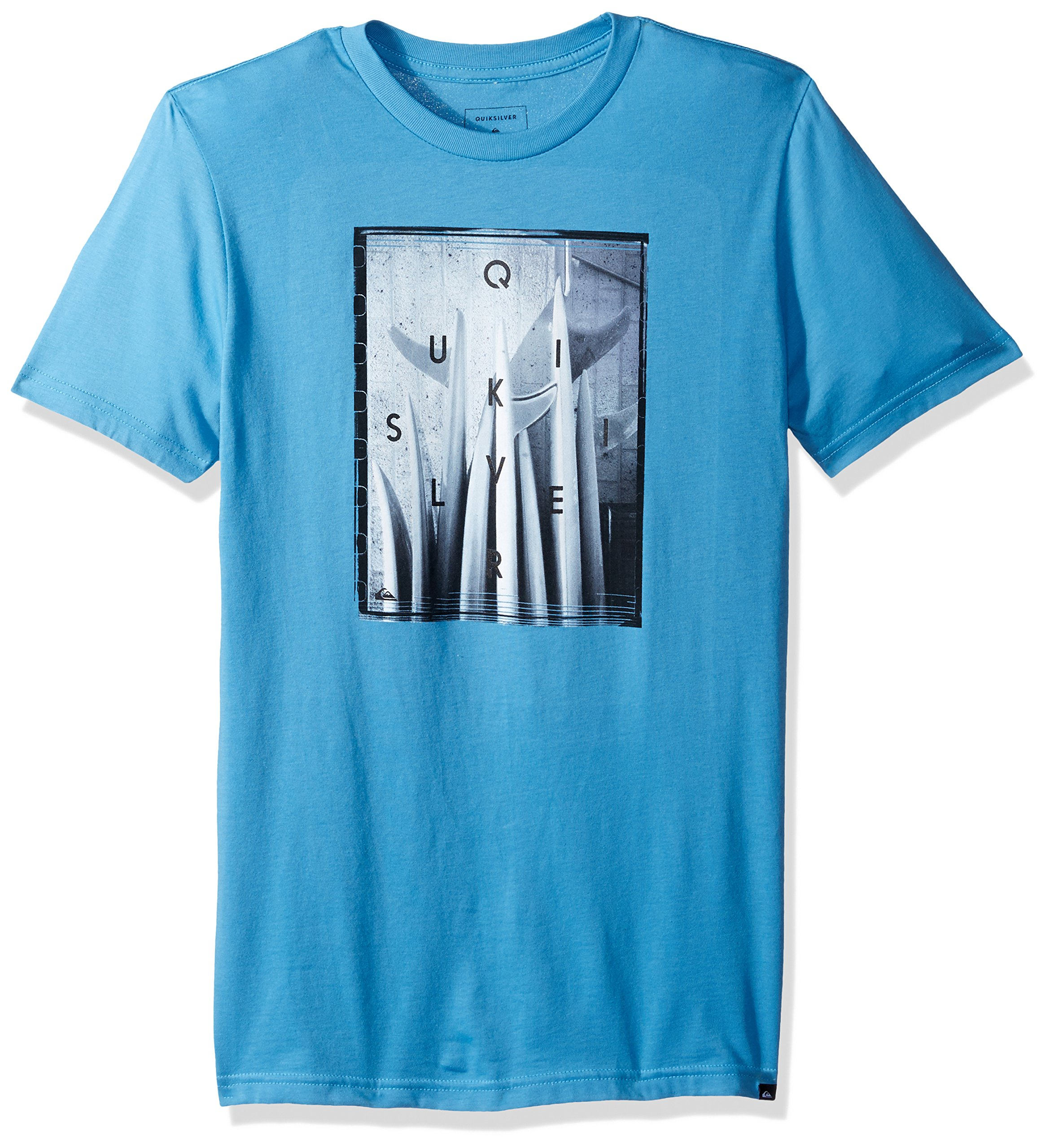 Quiksilver Big Boys' Quiver Central Youth Tee Shirt, Cendre Blue, L/14