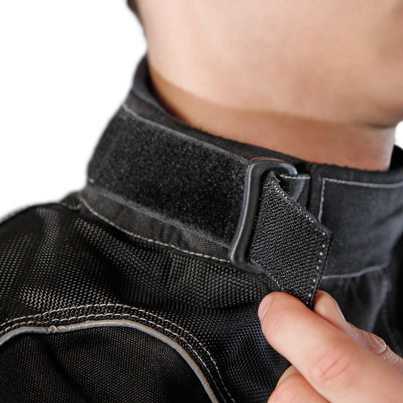 Lemoko Textile Motorcycle Jacket Black//White