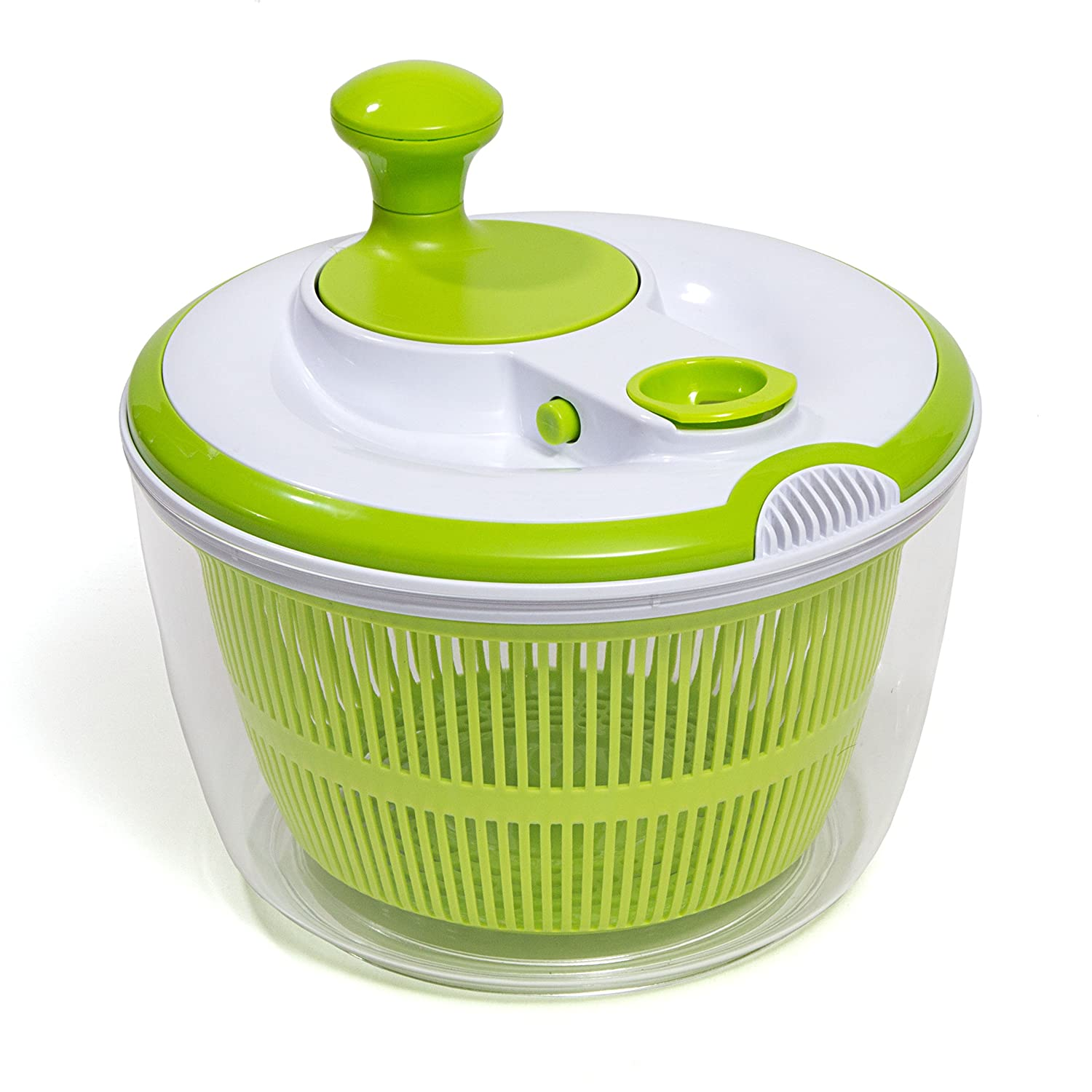 HULLR Premium Salad Spinner with Dressing/Oil Spout & Drainer BPA Free HÜLLR HSS-G100