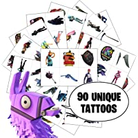 Video Game Party Favors by Citadel Black - Temporary Tattoos for Boys Birthday - 90 Tattoos Pack of 15 - Battle Royale…