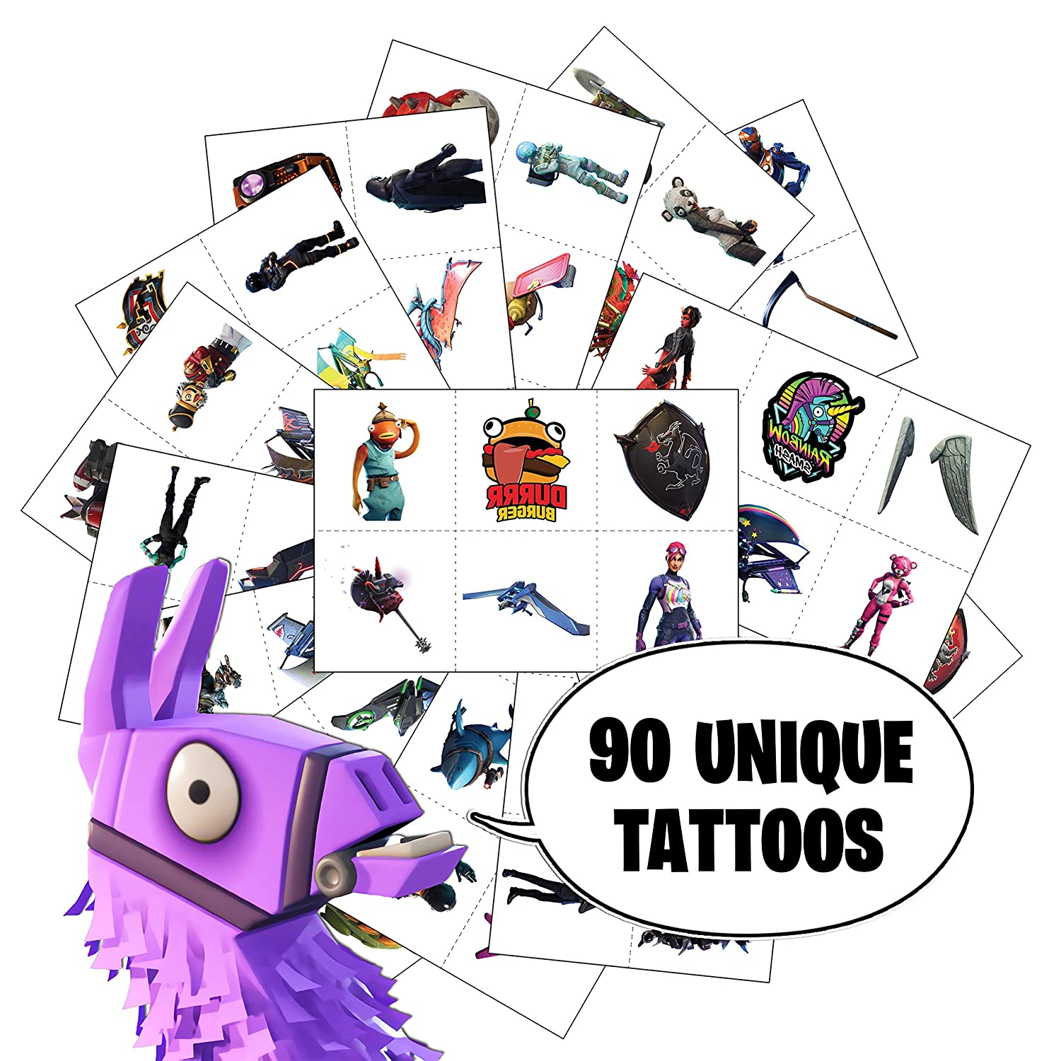 Video Game Party Favors By Citadel Black Temporary Tattoos For Boys Birthday 90 Tattoos Pack Of 15 Battle Royale Birthday Parties