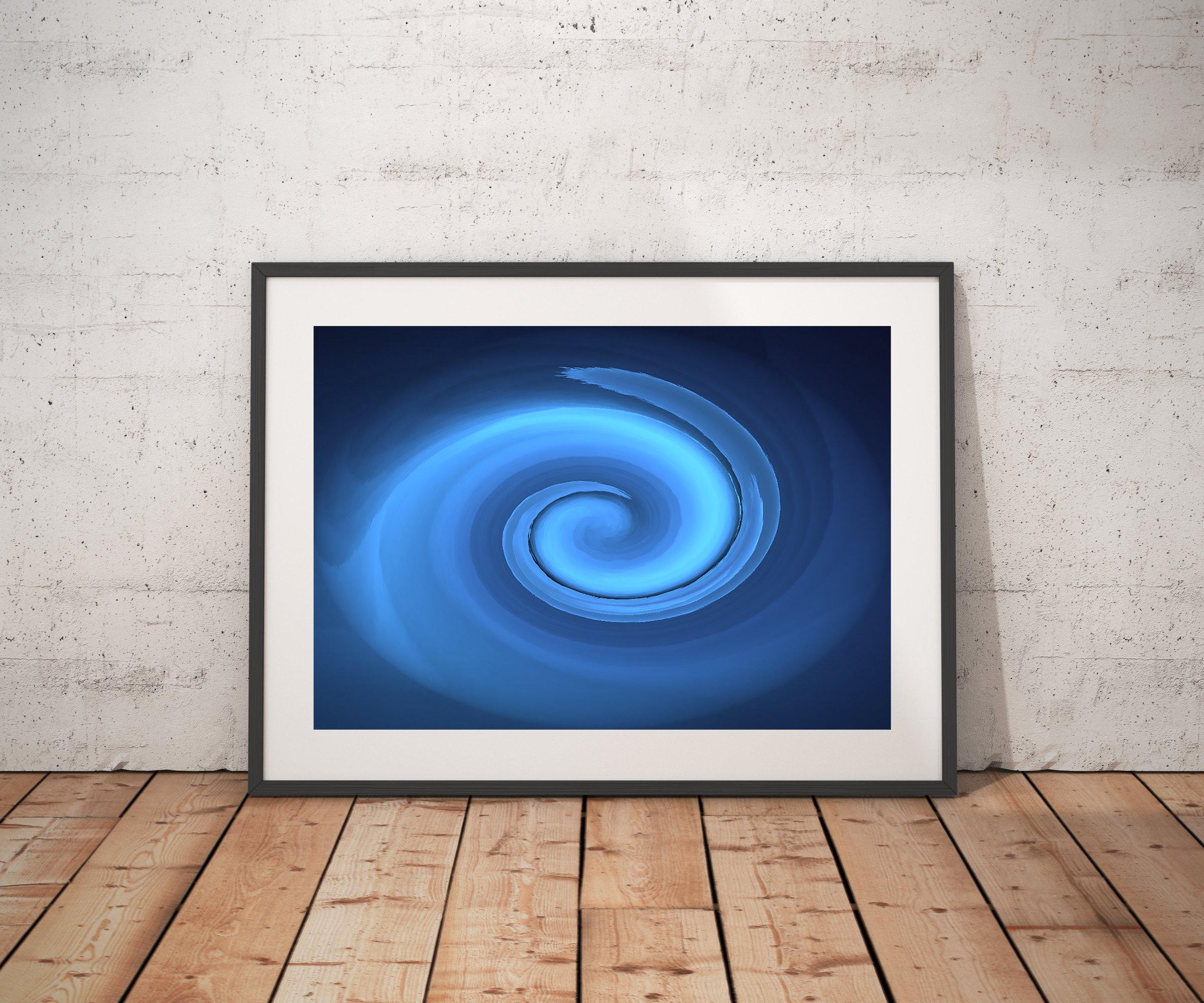 The Blue Swirl - Abstract Art